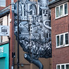 One of many Phlegm's graffiti.