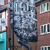 One of many Phlegm's graffiti.