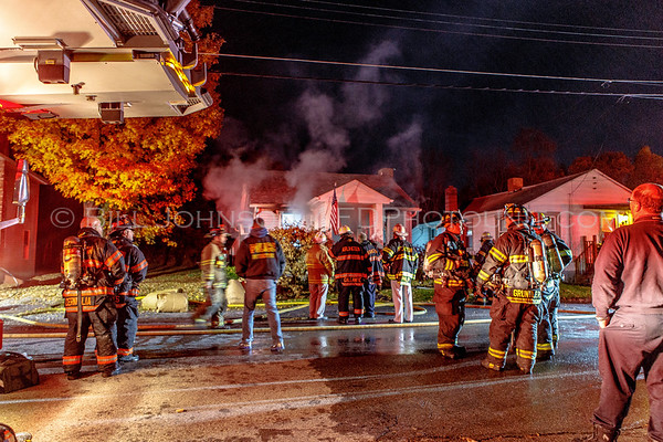 Structure Fire - 10 McKinley Lane  -  Arlington Fire District 10/26/15