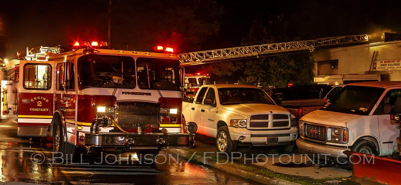 Structure Fire - Bobs Auto Body - Smith Street - City of Poughkeepsie FD -8/11/15