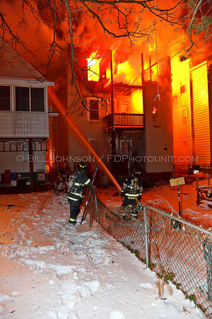 Structure Fire - City of Poughkeepsie Fire Department - Lincoln Ave near Reade PL.  I/A/O Vassar Hospital - 1/21/2009