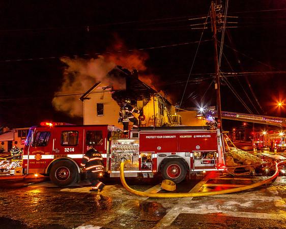 Structure Fire - Haight Avenue - Arlington Fire District -1/2/2013