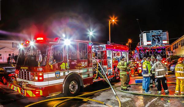 Structure Fire - Innis Avenue - Arlington FD - 12/25/11