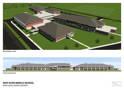 Avon Middle School renderings