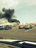 Smoke billows from the Kohl's Department Store off Township Line Road in Limerick, Pa., on Friday, April 25, 2014. (Photo by Troy Brandon Minner)