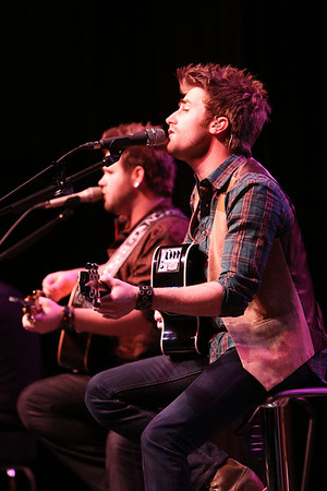 The Swon Brothers perform at the Beyond Bell Ringing Benefit at the Muskogee Civic Center on Thursday night to an audience of approximately 1,000.