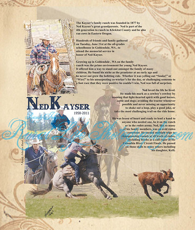 """Page 1  The first time my photos were used in a publication. In The outstanding Tribute by The Competitor News ,along with Dave Davenport sharing his words about his friend Ned.""""The Cows are out in Heaven"""""""