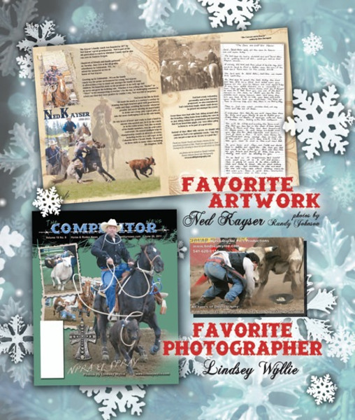 My photos were used in Ned Kayser tribute that won in TCN Favorite Artwork category 2011.The Real work was done by Heidi Thomas and Sharee LaRue from The Competitor News