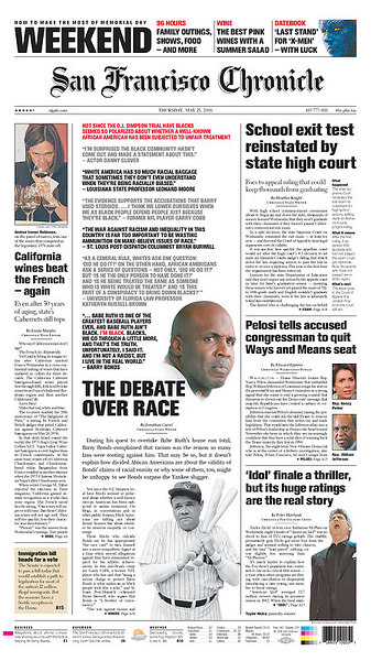 Taylor Hicks makes the newspaper front page, May 25, 2006.