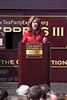 Gov. Sarah Palin delivers a speech, here captured in the middle of a vowel (not being angry).