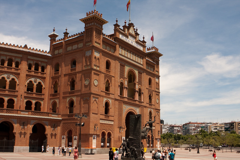 This is the plaza de toros in Madrid.