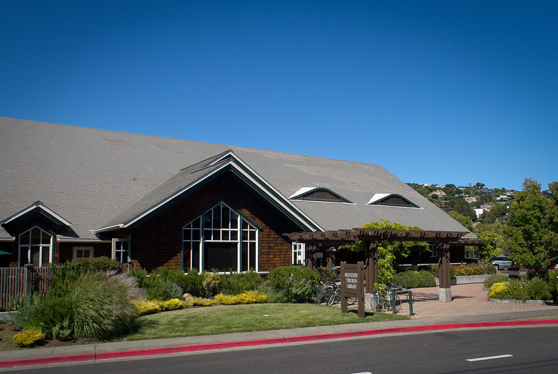 The exterior of the Tiburon Library  in Tiburon, Calif., on Thursday, June 28th, 2012. Residents in Tiburon upset that a $15 million, privately funded library addition will block views of historic St. Hilary Church.