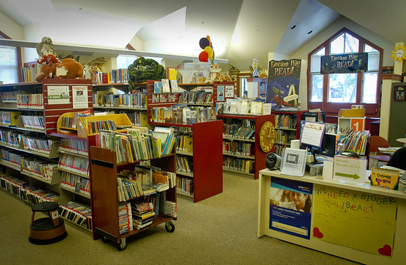 The Children's area of Tiburon Library is seen in Tiburon, Calif., on Thursday, June 28th, 2012.. Residents in Tiburon upset that a $15 million, privately funded library addition will block views of historic St. Hilary Church.