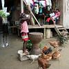 Una niña pila el arroz a mano en Jiguamiandó (Chocó). Además de ser una tradición cultural, muchos creen que de esta manera se conservan sus propiedades nutritivas.<br /> Foto: Bianca Bauer