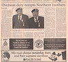 Timmins Daily Press 2005 November 11 - Paul Lantz article and photo re WWII veteran Oliver and Sinclair McCauley of Moosonee