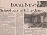 Timmins Daily Press 2006 October 26 - article about vandal caused fire at Northern Lights Secondary School - Paul Lantz photo of damaged classroom