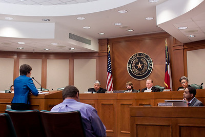 Louise testifies this bill has widespread support--endorsed by the ASPCA, Humane Society, Veterinary Medical Association of Texas and  even oilmen like Boone Pickens and Trevor Rees-Jones.  The bill is not anti-business, but seeks a minimum standard of care for animals.