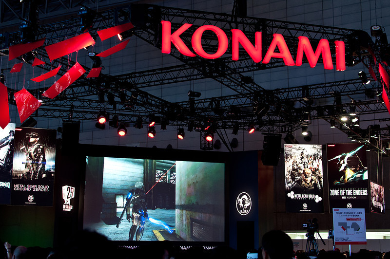 Konami's stand. Materials from various Metal Gear Solid games were presented here.