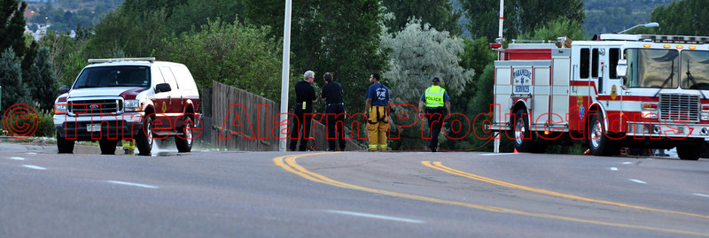 "Colorado Springs Fire Engine 7 doing scene clean-up on the traffic accident scene. See this incident location on Google Maps on this link at: <a href=""http://goo.gl/maps/pnZd"">http://goo.gl/maps/pnZd</a>"