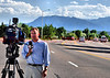 Zach Thaxton with KOAA News 5, doing live coverage reports of the traffic accident that tragically ended the life of a Colorado Springs, Colorado Police Officer.