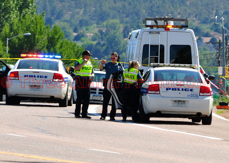 A release from Colorado Springs Police Department:<br /> This afternoon, at 2:32 pm, while conducting traffic enforcement near Austin Bluffs Parkway and Silver Drive, Officer Matthew (Matt) Tyner was involved in a traffic crash where tragically, he died from his injuries. <br /> The Colorado Springs Police Department's Major Accident Unit responded to the scene to assume investigative responsibility.  A representative with the District Attorney's Office was also on the scene as is protocol relating to fatal accidents.  At this time, the investigation remains active. <br /> Prior to joining the Colorado Springs Police Department, Matthew served as an Officer with the Kansas City Police Department for three years. <br /> He became a part of the Colorado Springs Police Department's  family on January 21, 1999, where he served as a Patrol Officer, a Neighborhood Resource Officer and Training Academy Instructor before becoming part of the Specialized Enforcement Division/Motorcycle Unit. <br /> Matthew's outgoing personality and friendship will be sorely missed by all those who knew him and worked with him. <br /> If anyone has information about this case please call (719) 444-7000; or you may call Pikes Peak Area Crime Stoppers, Inc. at (719) 634-STOP (7867); you do not have to give your name and could earn a cash reward.