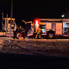 Colorado Springs Fire Department Engine 5 on  the scene of gasoline tanker accident.