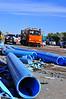 Plastic pipe was strewn all over Interstate 25, near Cimarron Street, in Colorado Springs, Colorado. October 22, 2013