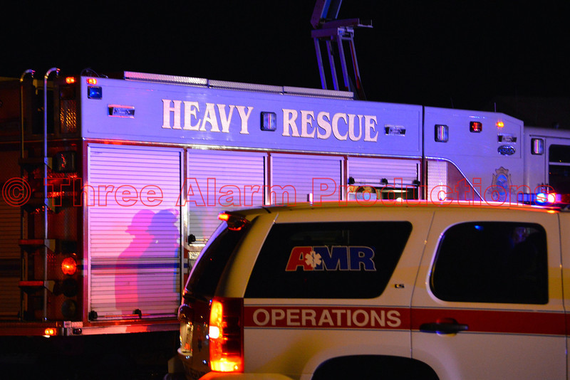 Colorado Springs Heavy Rescue 17 on the scene of a traffic accident on Research Parkway.