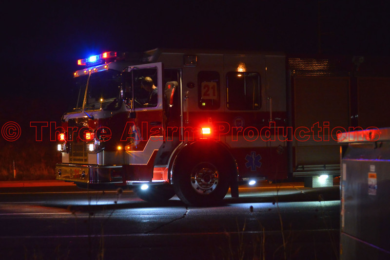 Colorado Springs newest fire engine, No. 21, on the scene of an accident with extrication needed on Research Parkway.