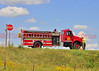 Fire Engine 3610 on the scene of a traffic accident in Peyton, Colorado, USA.