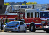 Cimarron Hills Ladder Truck 1331 and firefighters, on scene of non-injury traffic accident, at North Powers Boulevard and Waynoka Road in El Paso County, Colorado. October 22, 2013