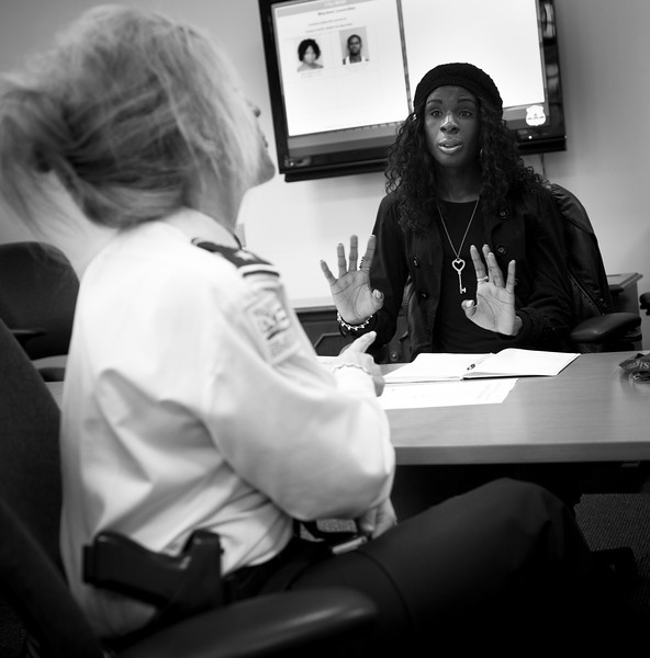 "Xion meets with DC Assistant Police Chief Diane Groomes to discuss police interaction with transgender youth in DC. Specifically, they are concerned about a particular ""gang"" of kids who refer to themselves as ""Check It"" who Xion in the past has associated with, at one point considering herself a member."