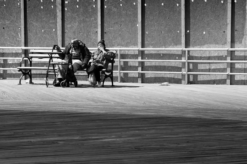 Watching The World Go By. Coney Island, Brooklyn