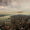 Looking Uptown- Looking towards the Empire State Building, from the top of the new Freedom Tower (WTC1)
