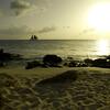 Sailing Boat at Sunset Beach, St Maarten
