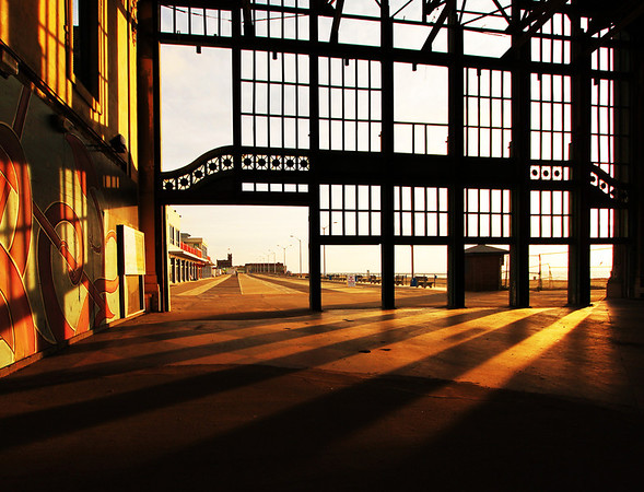 Early Morning Sun in Asbury Park