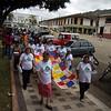 Las Matriarcas (esposas, madres y hermanas de víctimas) encabezaron la XI Peregrinación que tuvo lugar en Trujillo el 25 de agosto de 2012 y llevaron como lema: «Camino a la memoria en resistencia y dignidad».