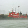 Tug Riding out Squall Line :