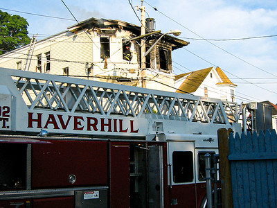 Two-alarm fire at 11 Union St. in Haverhill, MA (June 19, 2003)