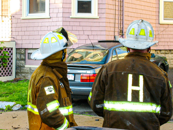 Fire fighters get a two-alarm blaze under control at 11 Union St. in Haverhill, MA.