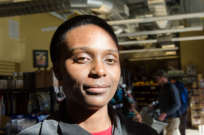 Adrionna Fike, one of Mandela Foods' workers who are also co-owners of the store.