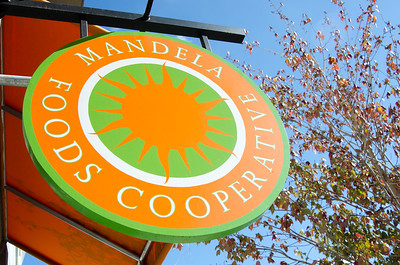 Sign outside the worker-owned Mandela Foods Cooperative in Oakland, California http://www.mandelamarketplace.org/