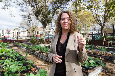 Barbara Finnin, Executive Director of City Slicker Farms, at Union Plaza Park