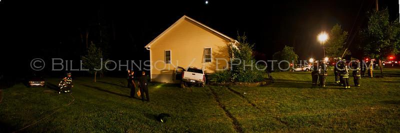 Auto Accident - Lake Walton Rd near Van Wyck Lane - Car into house
