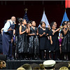 Students of the Boston Renaissance Charter School join Mel King in singing a song a wrote for the election of Barack Obama as President in 2008.