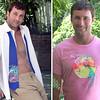 Dan-blue tie pink t