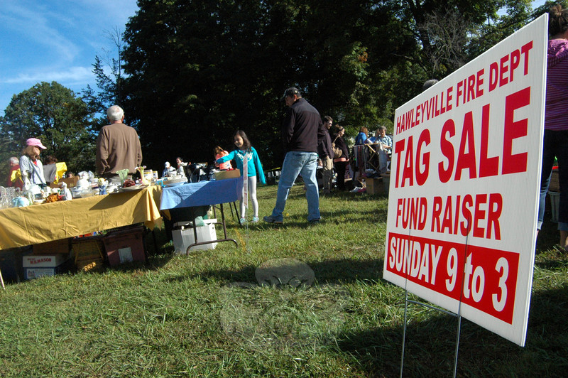 The Stony Hill Four Corners Association held a community tag sale on Sunday, September 15, to benefit Hawleyville Volunteer Fire & Rescue Company. (Hallabeck photo)