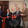 Whether it was the staff or the services offered, visitors at two recent ribbon cuttings may have felt a sense of great familiarity. On April 1, Newtown Savings Bank celebrated the grand reopening of its Sand Hill Plaza branch with a well-attended reception that included, from left, NSB CFO Bill McCarthy, Branch Manager Rebecca Brown, First Selectman Pat Llodra, NSB President and CEO John Trentacosta, and Newtown Chamber of Commerce President Tim Haas. (Voket photo)