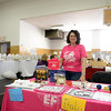 Many vendors from Newtown and neighboring towns set out their goods and services at the Spring Welcome Craft Fair at Edmond Town Hall on Sunday, April 6. Newtown Middle School teacher Lynn Hungaski, who spends her time during the summer with Education First, an international student exchange program, handed out information that Sunday. She is seeking local families to host students from China, July 24 to August12. Learn more at ef.com. (Bobowick photo)