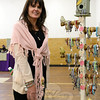 Karen Martocchio displays her beaded jewelry and charms with Beautiful You beads out of Vernon. (Bobowick photo)
